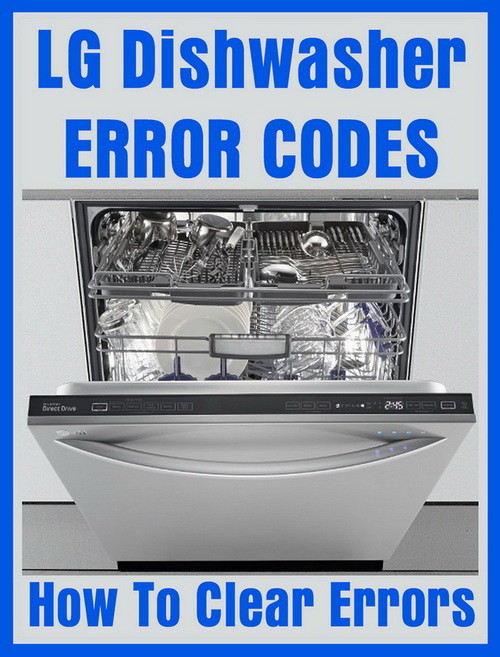 LG dishwasher error codes