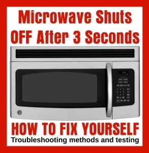 Microwave Turns Off After 3 Seconds Removeandreplace Com