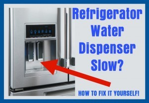 Refrigerator Water Dispenser Slow Removeandreplace Com