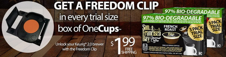freedom clip for Keurig 2 brewers