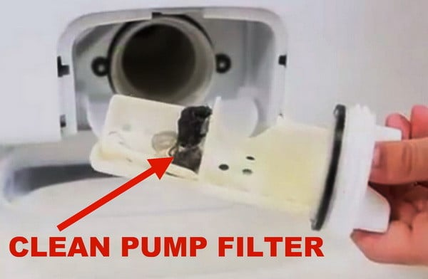 front load washer pump filter removal