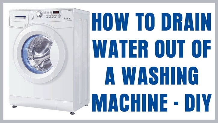 how to drain water from a washing machine