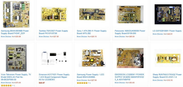 power supply boards for TVs