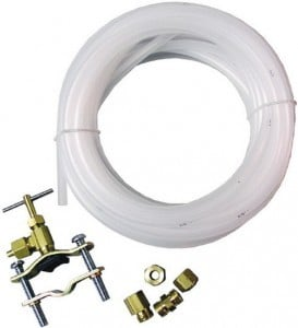 hook up water filter refrigerator Frigidaire refrigerator hose, tube & fitting parts brown water filter supply tube 5/16 goes from the water valve to the water line kit to refrigerator, 6 foot.