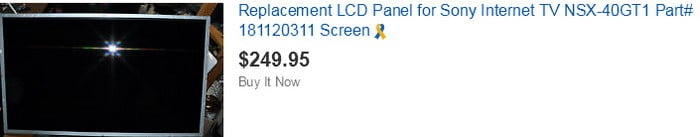 sony TV replacement screen