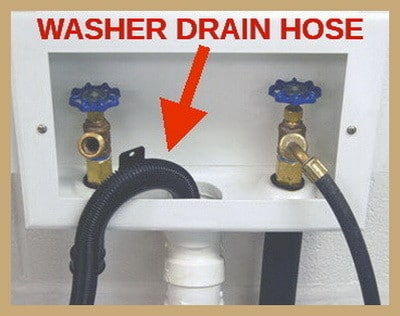 how to drain water out of washing machine