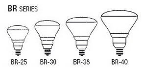 Bulb Sizes Shapes - BR Series Bulbs