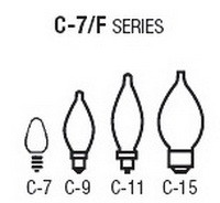 Bulb Sizes Shapes - C-7 F Series Bulbs