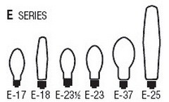 Bulb Sizes Shapes - E Series Bulbs