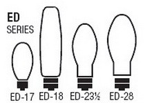 Bulb Sizes Shapes - ED Series Bulbs