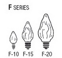 Bulb Sizes Shapes - F Series Bulbs