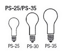 Bulb Sizes Shapes - PS 25 PS 35 Series Bulbs