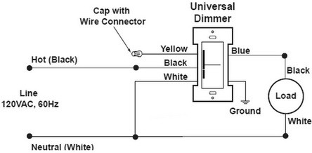 single pole switch to fluorescent light wiring diagram new dimmer switch has aluminum ground can i attach to copper ground   new dimmer switch has aluminum ground