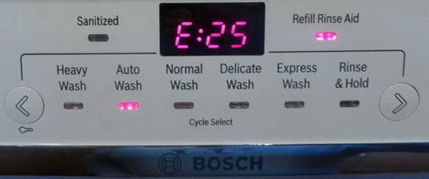 Bosch Dishwasher Error Codes How To Clear What To Check