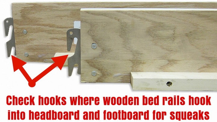 Check Bed Rails For Squeaky Wooden Frame