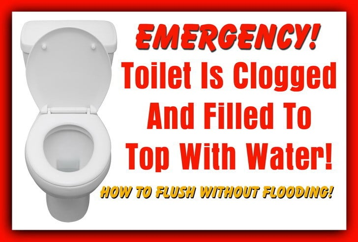 Toilet Is Clogged And Filled To Top With Water - How To Flush ...