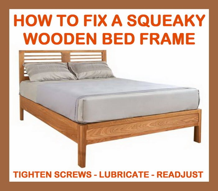 fix squeaky wood bed frame