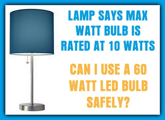 lamp max wattage bulb to use