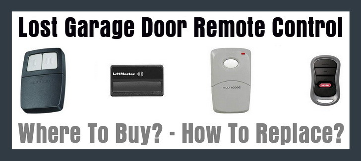 Lost Garage Door Remote Control How To Replace