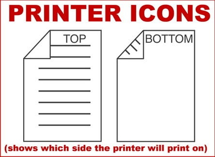 printer icons to show which side print will be on