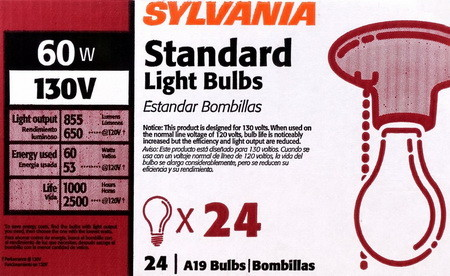 130 volt light bulbs