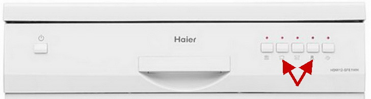 Haier dishwasher front panel 1