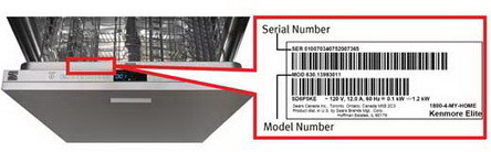 dishwasher model number location_03