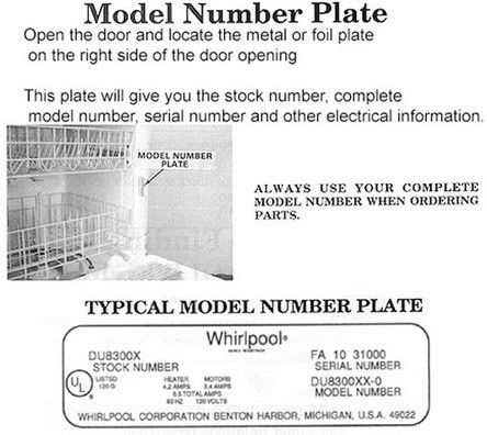 dishwasher model number location_10