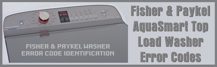 fisher paykel aquasmart washer error codes