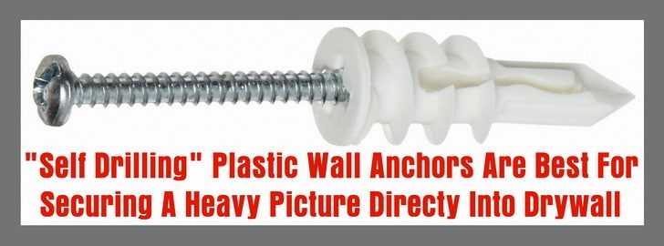 Self drilling drywall anchor