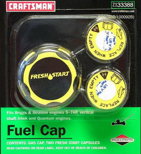 Craftsman Fresh Start Fuel Cap and 2 Capsules