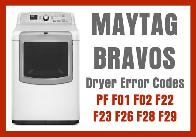Maytag bravos dryer error codes