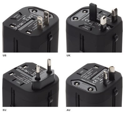 Power adapter for AU EU USA UK