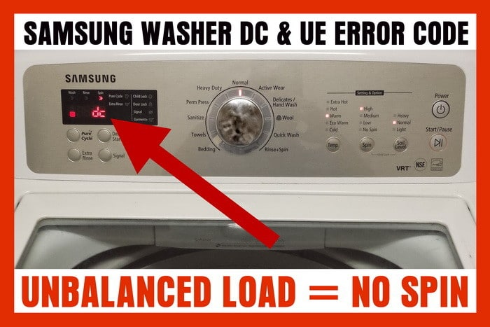 Samsung Washing Machine Displays Error Code Dc How To Clear Error