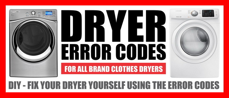 dryer error codes