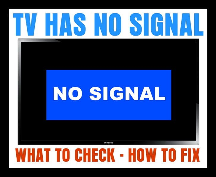 TV Says NO SIGNAL - What To Check - How To Fix ...