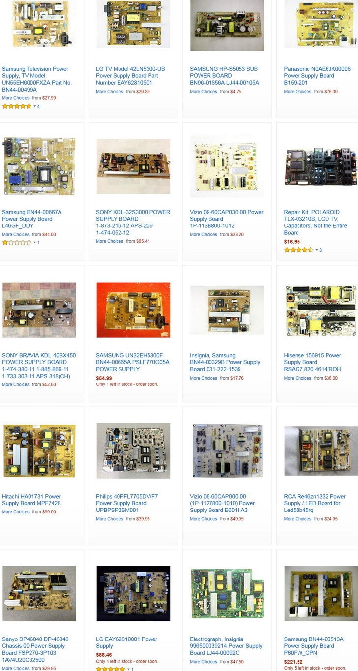 tv power supply boards