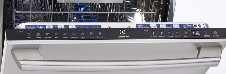 Electrolux dishwasher control pad panel