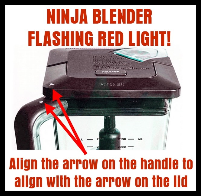 Ninja Blender Flashing Red Light