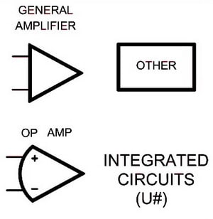 Electrical Wiring Schematic Diagram Symbols - INTEGRATED CIRCUITS