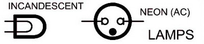 Electrical Wiring Schematic Diagram Symbols - LAMPS