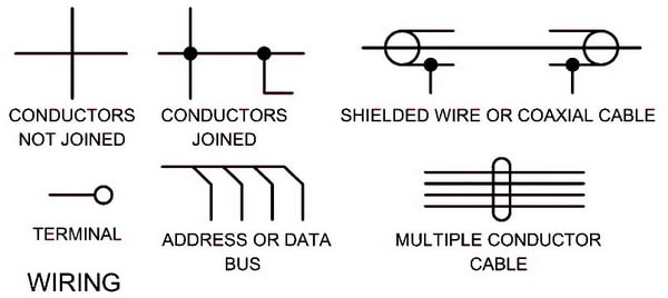 Electrical Wiring Schematic Diagram Symbols WIRING electrical schematic symbols names and identifications electrical schematic diagrams at gsmportal.co