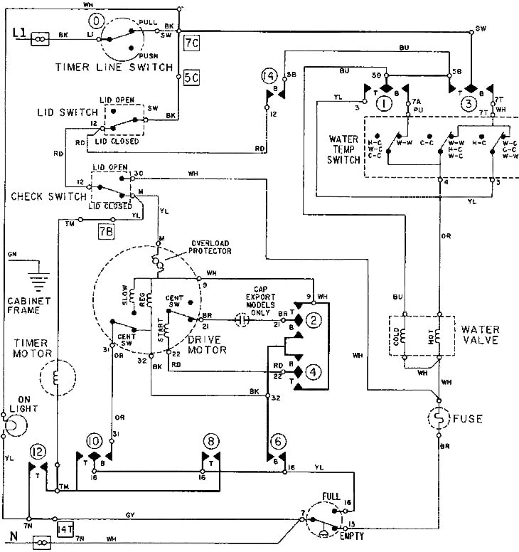 Washing Machine Motor Capacitor Wiring Diagram