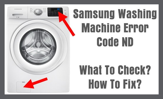 Samsung washer ND error code