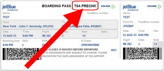 boarding pass with tsa precheck