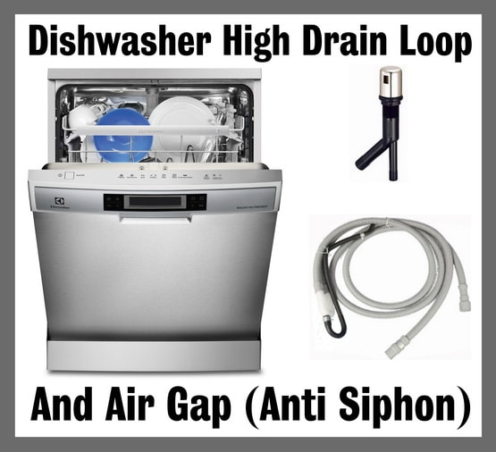 Dishwasher air gap - high drain loop