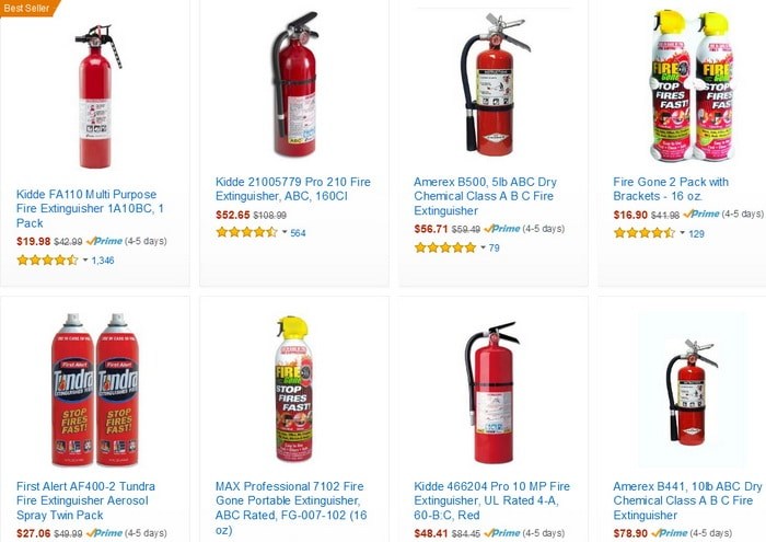 Fire extinguisher replacements