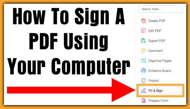 How To Sign A PDF Using Your Computer