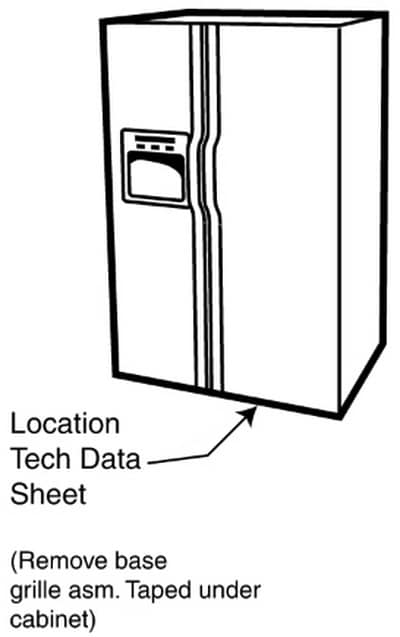 Refrigerator Service Manual May Be Located Under Front Grill