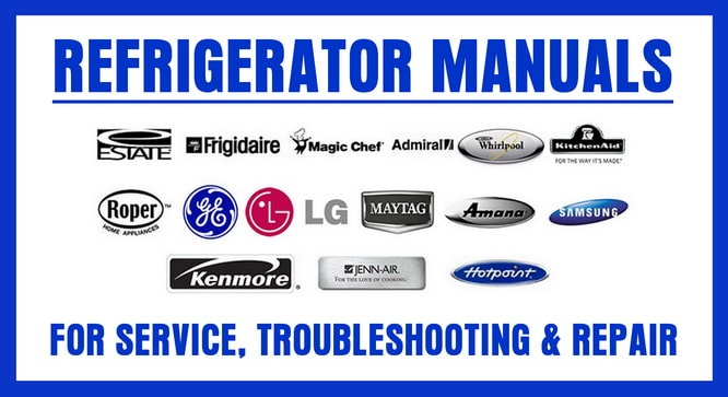 refrigerator service repair and owners manuals online